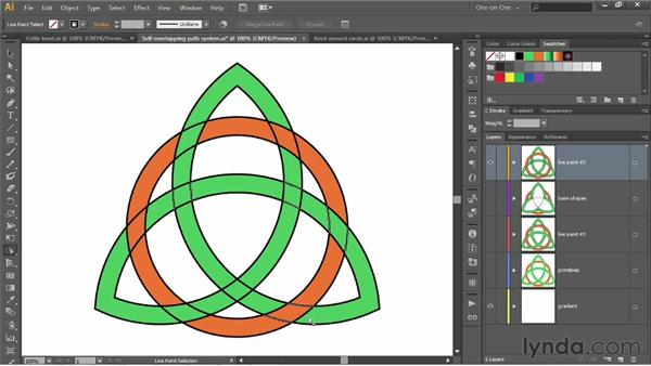 Painting a path that overlaps itself: Illustrator CS6 One-on-One: Intermediate