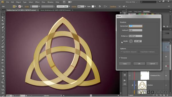 Casting shadows inside a Live Paint object: Illustrator CS6 One-on-One: Intermediate