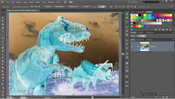 Working with linked images: Illustrator CS6 One-on-One: Intermediate
