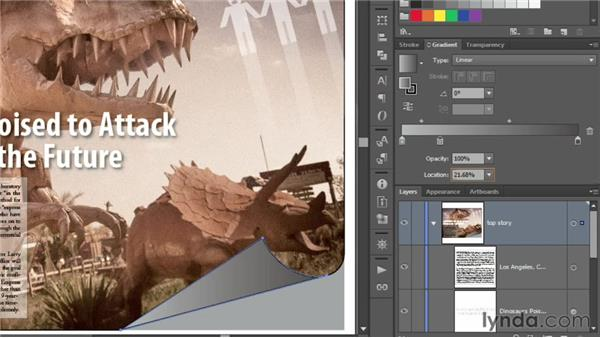 Creating a trendy gradient page curl: Illustrator CS6 One-on-One: Intermediate