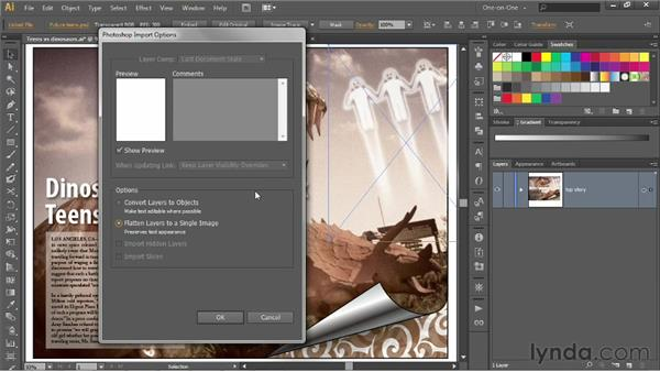 Linking vs. embedding images: Illustrator CS6 One-on-One: Intermediate