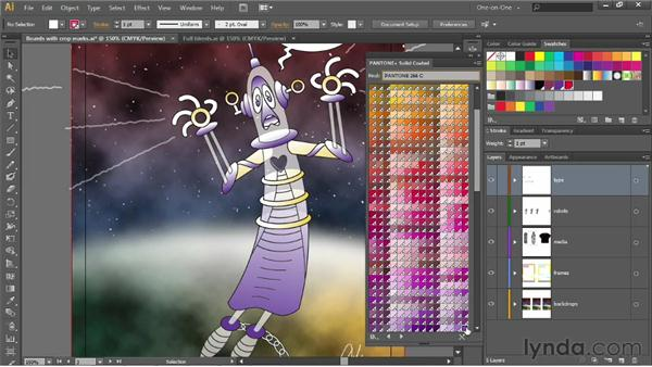 Introducing and applying Pantone spot colors: Illustrator CS6 One-on-One: Intermediate