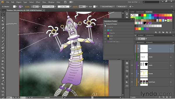 Using the Separations Preview panel: Illustrator CS6 One-on-One: Intermediate