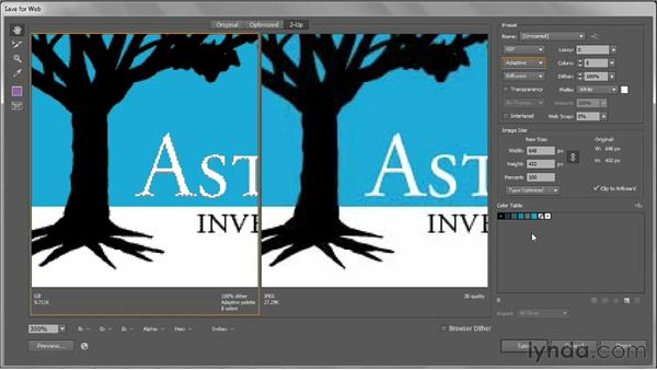Saving high-contrast, low-color art to GIF: Illustrator CS6 One-on-One: Intermediate