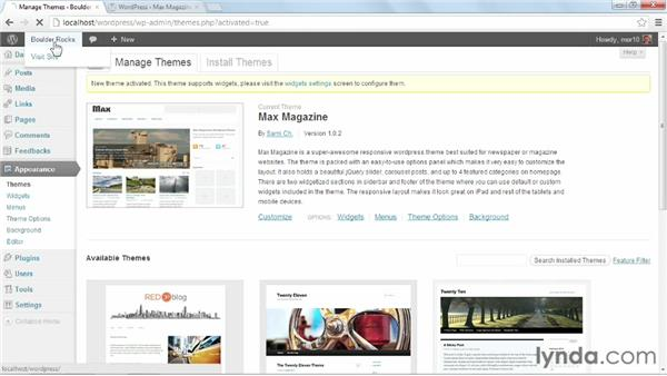 Installing and activating Max Magazine: Start with a Theme: Magazine Styles in WordPress
