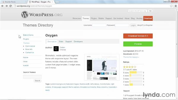 Installing and activating Oxygen: Start with a Theme: Magazine Styles in WordPress