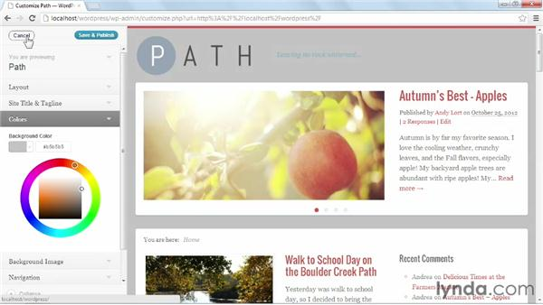 Configuring Path settings: Start with a Theme: Magazine Styles in WordPress