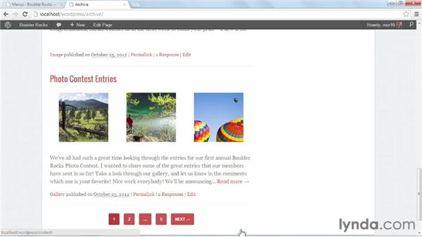 Configuring widgets and menus: Start with a Theme: Magazine Styles in WordPress