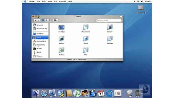 using finder windows: Learning Mac OS X 10.3 Panther