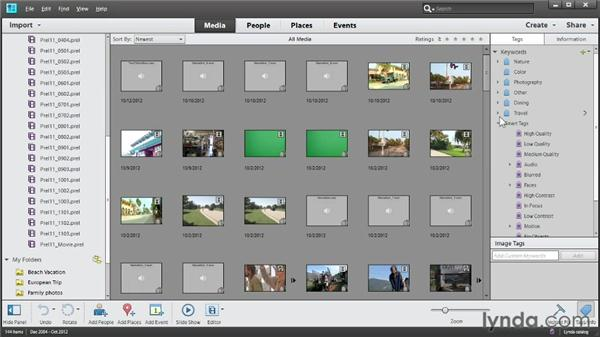 Managing media files with the Organizer: Up and Running with Premiere Elements 11