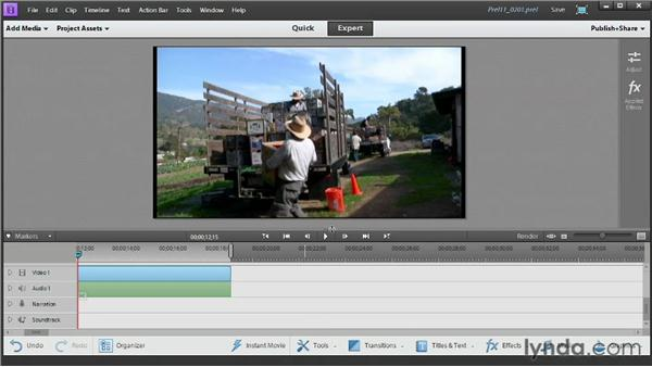 Editing with Quick view vs. editing with Expert view: Up and Running with Premiere Elements 11