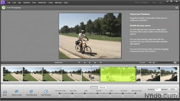 Speeding up or slowing down video segments with Time Remapping: Up and Running with Premiere Elements 11