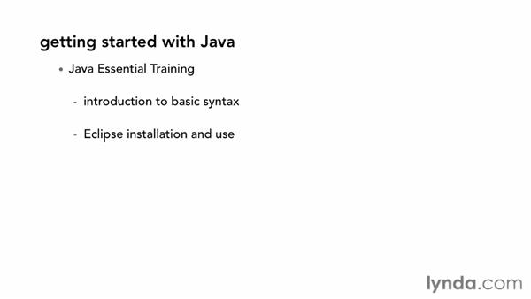 What you should know before starting this course: Java Database Integration with JDBC