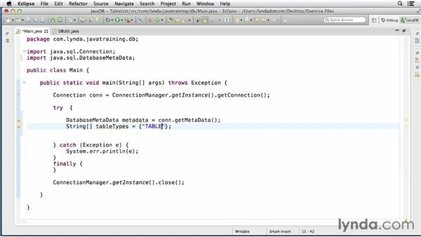 Getting the DatabaseMetaData object: Java Database Integration with JDBC