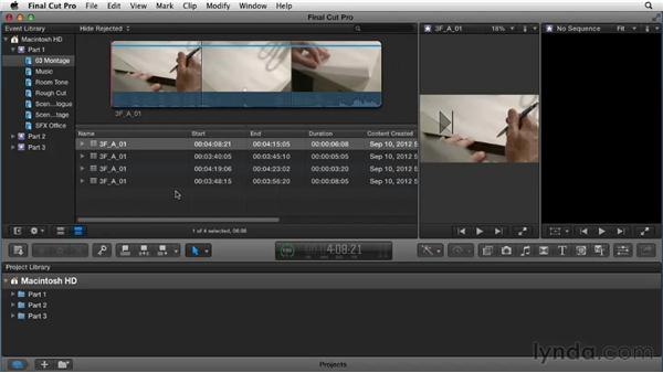 Preparing the interface: Narrative Scene Editing with Final Cut Pro X v10.0.9