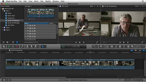 Evaluating shots and performances: Narrative Scene Editing with Final Cut Pro X v10.0.9