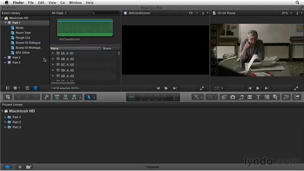 Adding assets: Narrative Scene Editing with Final Cut Pro X v10.0.9