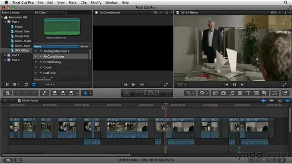 Understanding editing conventions: Narrative Scene Editing with Final Cut Pro X v10.0.9