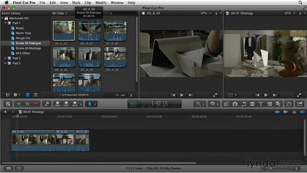 Planning an editing strategy: Narrative Scene Editing with Final Cut Pro X v10.0.9
