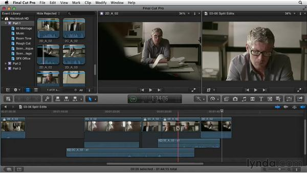 Using split edits: Narrative Scene Editing with Final Cut Pro X v10.0.9