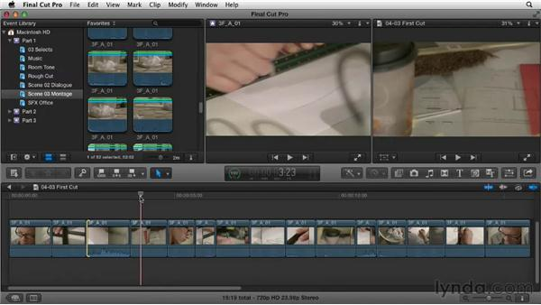 Laying down and organizing the base: Narrative Scene Editing with Final Cut Pro X v10.0.9
