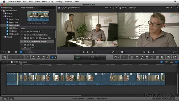 Using cutaways: Narrative Scene Editing with Final Cut Pro X v10.0.9