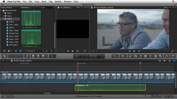 Replacing location audio: Narrative Scene Editing with Final Cut Pro X v10.0.9