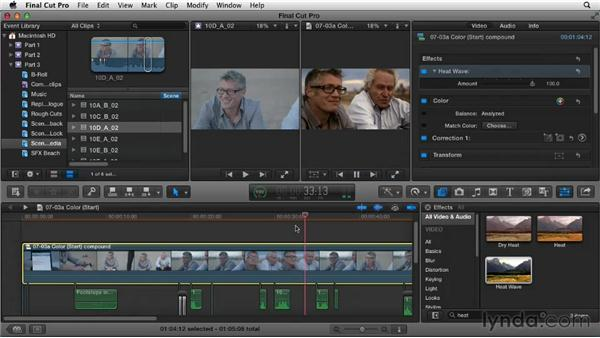 Using color to enhance a scene: Narrative Scene Editing with Final Cut Pro X v10.0.9