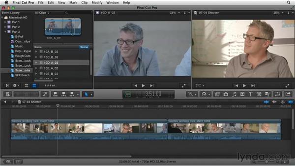 Cutting down the rough cut: Narrative Scene Editing with Final Cut Pro X v10.0.9