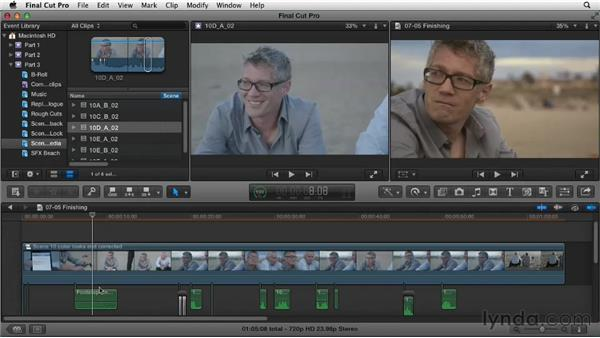 Understanding finishing steps: Narrative Scene Editing with Final Cut Pro X v10.0.9