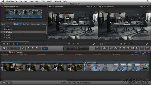 Looking at your visual arc: Narrative Scene Editing with Final Cut Pro X v10.0.9