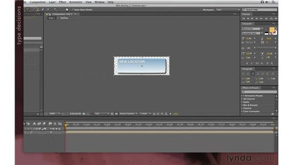 Using common elements: After Effects Apprentice 08: Nesting and Precomposing