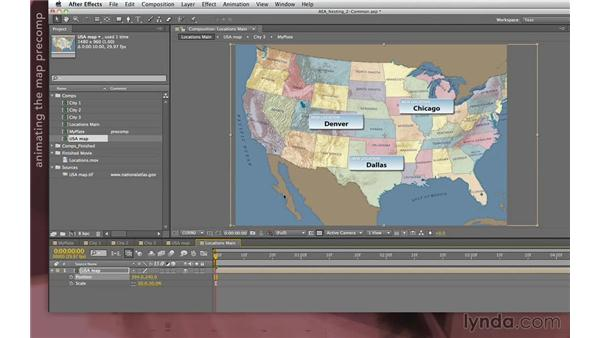 Creating and animating a map composition: After Effects Apprentice 08: Nesting and Precomposing