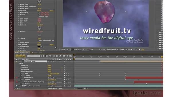 More on precomps and effects: After Effects Apprentice 08: Nesting and Precomposing