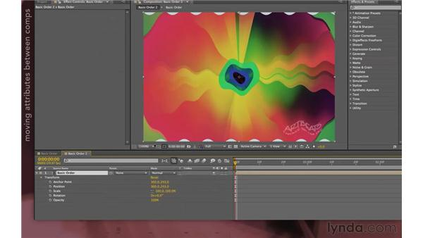 Solving problems by using a second composition: After Effects Apprentice 08: Nesting and Precomposing