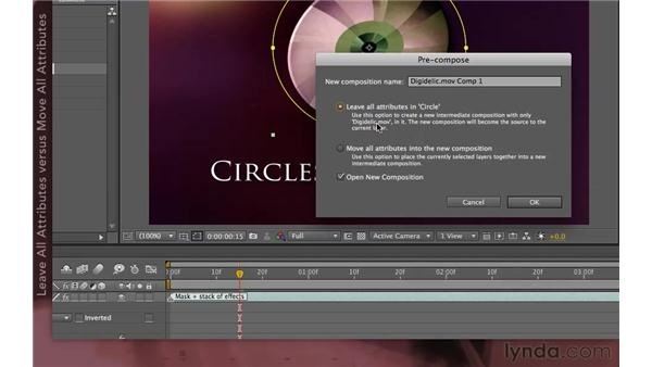 Using precomposing to rewire the render order: After Effects Apprentice 08: Nesting and Precomposing