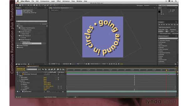 Using the Transform effect: After Effects Apprentice 08: Nesting and Precomposing