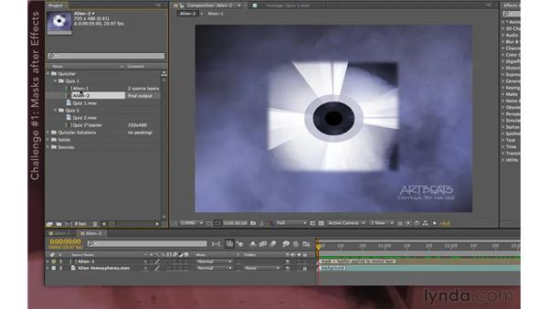 Quizzler challenges: After Effects Apprentice 08: Nesting and Precomposing