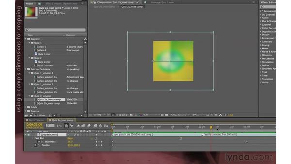 Quizzler solution 2: Picture in Picture: After Effects Apprentice 08: Nesting and Precomposing