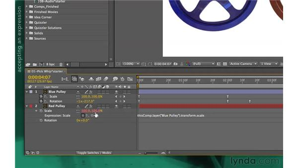 Creating an expression: After Effects Apprentice 09: Expressions