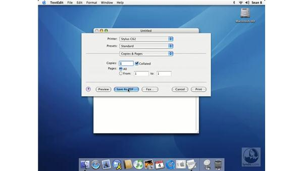 creating PDFs: Learning Mac OS X 10.3 Panther