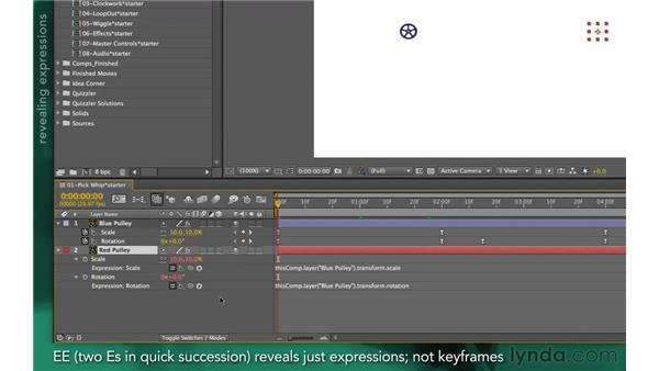 Managing expressions: After Effects Apprentice 09: Expressions