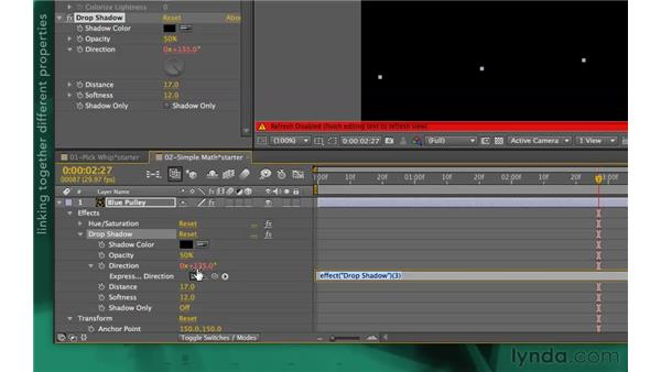Coordinating simple properties: After Effects Apprentice 09: Expressions