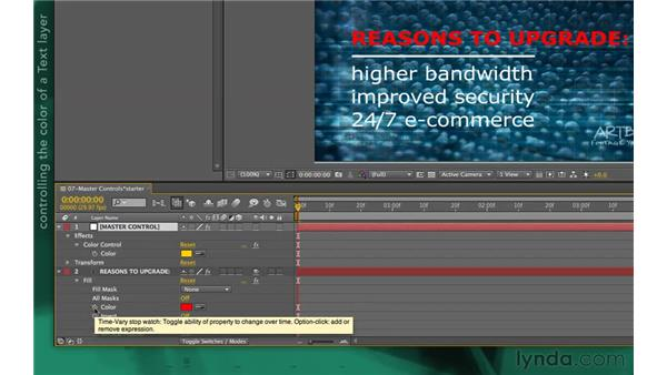 Master controls: After Effects Apprentice 09: Expressions
