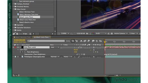 Idea corners 2: Flashing lights: After Effects Apprentice 09: Expressions