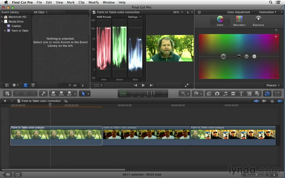 Following a proper color correction workflow