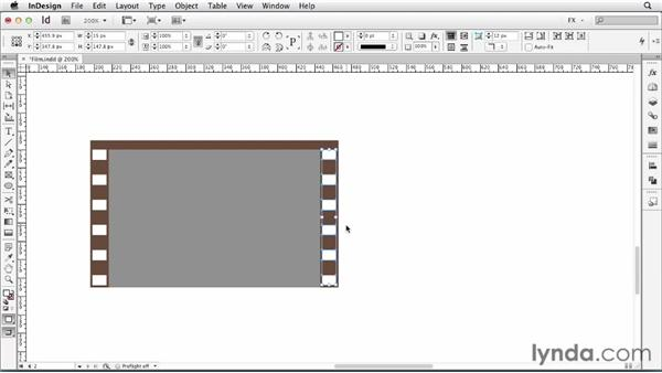 070 Mocking up a film strip: InDesign FX