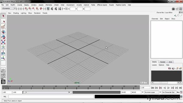 Using the exercise files: Creating Simulations in Maya Dynamics