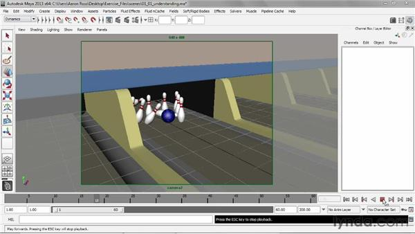 Understanding the rigid body solver: Creating Simulations in Maya Dynamics