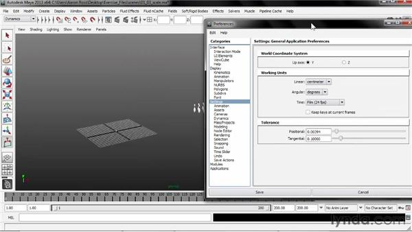 Choosing a scale convention: Creating Simulations in Maya Dynamics